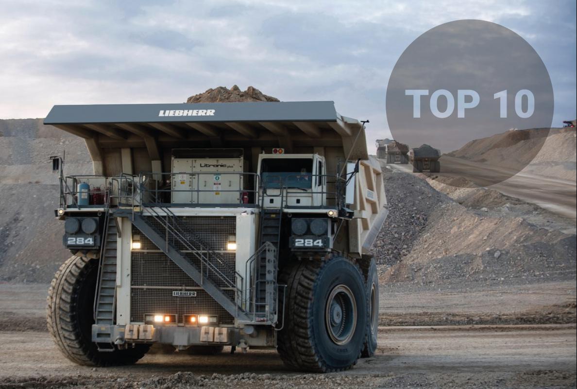 World's Top 10 biggest mining dump trucks