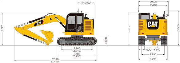 Caterpillar 314E LCR Specifications & Technical Data (2013-2019