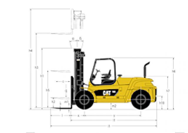 Caterpillar DP100N Specifications & Technical Data (2010-2014