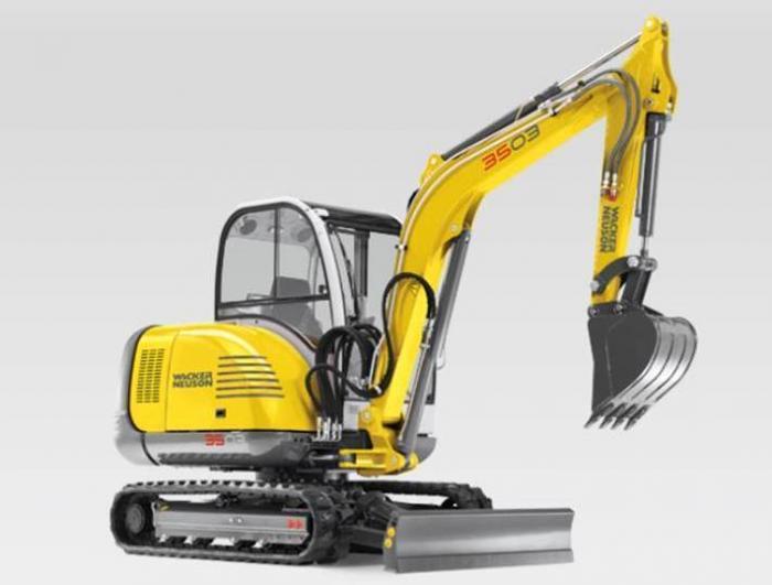 Wacker Neuson 3503 excavator specs 2008 - 2018  Diggers  LECTURA specs