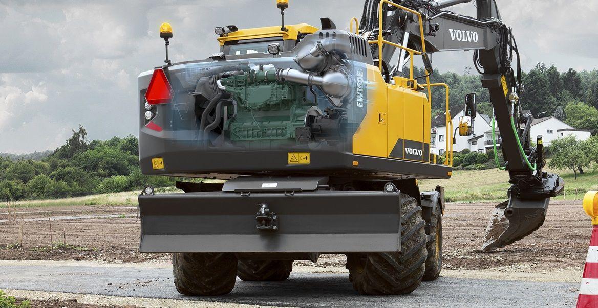 volvo ew140 wheeled excavator service repair manual instant download